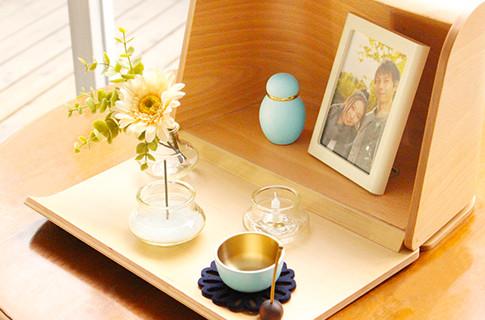 洋風ミニ仏壇セット|やさしい時間 祈りの手箱(ナチュラルセット)