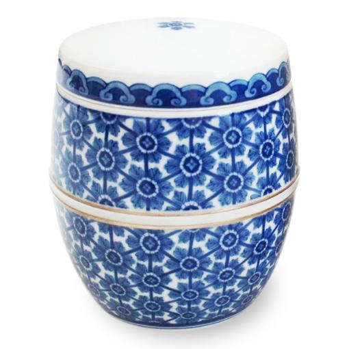 ミニ骨壷(コアボトル)|有田焼・藍更紗|陶器製