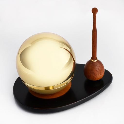 手元供養おりん3点セット|たまゆらりん1.8寸+りん棒(花梨)+選べる置台