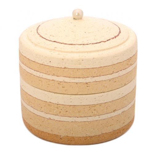 ミニ骨壷|パオPAOシリーズ|パールW(陶器製)