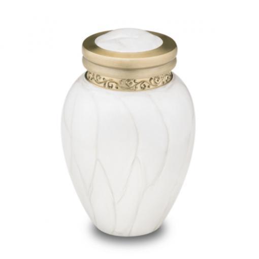 ミニ骨壷|パールブレッシング|ホワイトB(真鍮製)